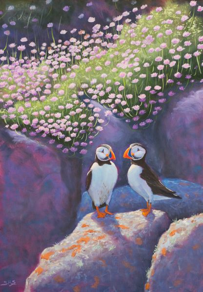 Sea Pinks and puffins